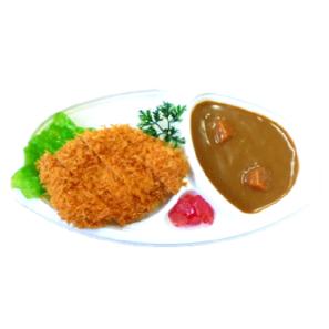 """Bento Lunchbox japanese food 8. BENTO """"CURRY AND RICE WITH FRIED CHICKEN CUTLET""""  6€ KENCHAN HARUCHAN SOWATRADING"""