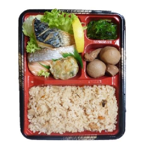 "Bento Lunchbox japanese food 2. BENTO ""GRILLED FISH WITH SALT""7€ KENCHAN HARUCHAN SOWATRADING"
