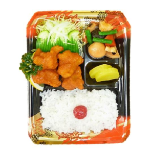 "Bento Lunchbox japanese food 4. BENTO ""FRIED CHICKEN"" 7€ KENCHAN HARUCHAN SOWATRADING"